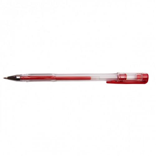 Ручка гелевая DOLCE COSTO в прозрачном корпусе красная толщина линии  0,5 мм
