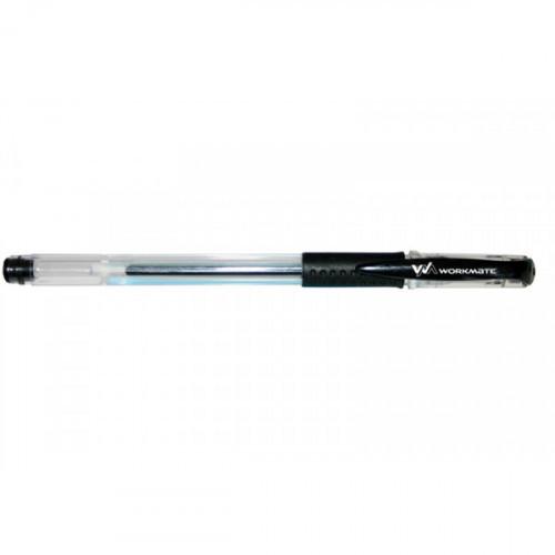 Ручка гелевая с резиновой манжеткой, 0,5 мм, черная, WORKMATE U-Save