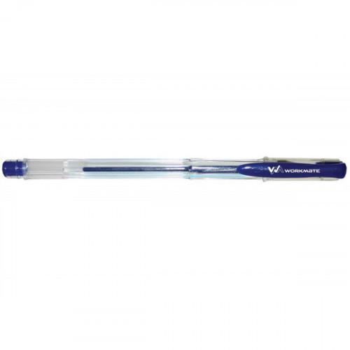 Ручка гелевая, 0,5 мм, синяя, WORKMATE U-Save
