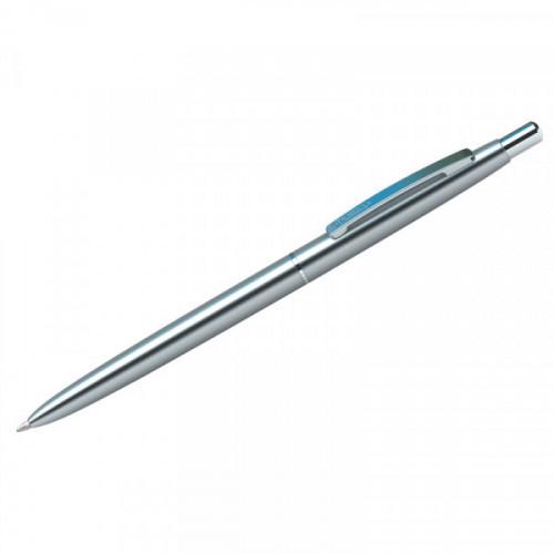 "Ручка шариковая Berlingo ""Golden Prestige"" синяя, 0,7мм, корпус хром, кнопочн., пластик.футляр"