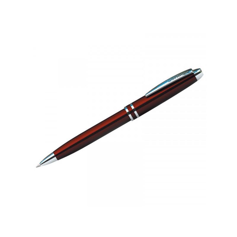 """Ручка шариковая Berlingo """"Silk Classic"""" синяя, 0,7мм, корпус бордовый/хром, поворот., пласт. футляр"""