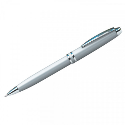 "Ручка шариковая Berlingo ""Silk Classic"" синяя, 0,7мм, корпус серебро, поворот., инд. упак."