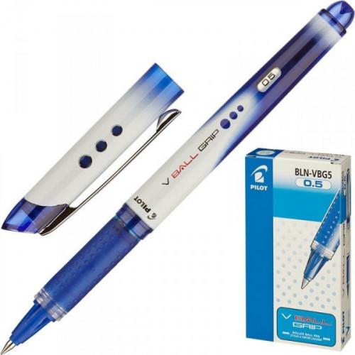Роллер Pilot BLN-VBG5 синий с резиновой манжеткой толщина линии 0.5 мм