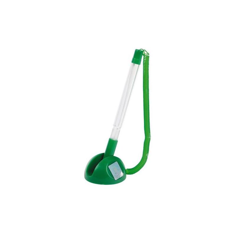 Ручка шариковая на липучке Beifa синяя зеленый корпус