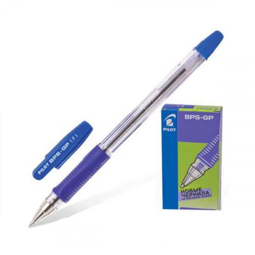 Ручка шариковая Pilot BPS-GP-EF синяя с резиновой манжеткой с толщиной линии 0.25 мм