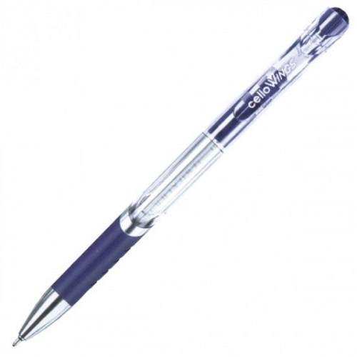 Ручка шариковая Cello WINGS автоматическая 0,7мм синяя с резиновой манжеткой
