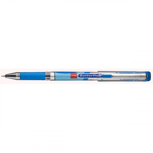 Ручка шариковая Cello BUTTERFLOW 0,6мм синяя