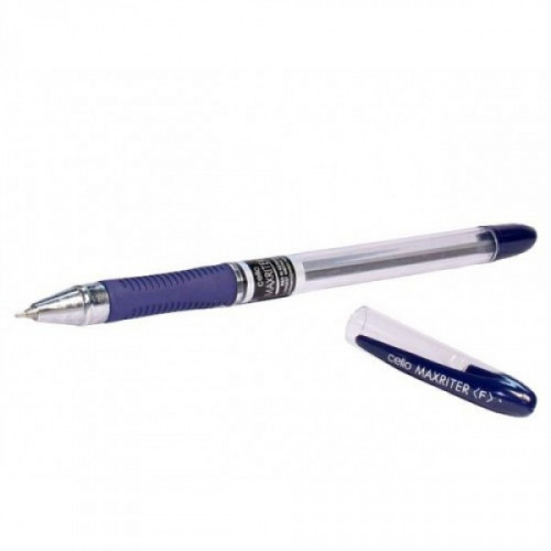Ручка шариковая Cello MAXRITER XS 0.7 мм синяя с резиновой манжеткой