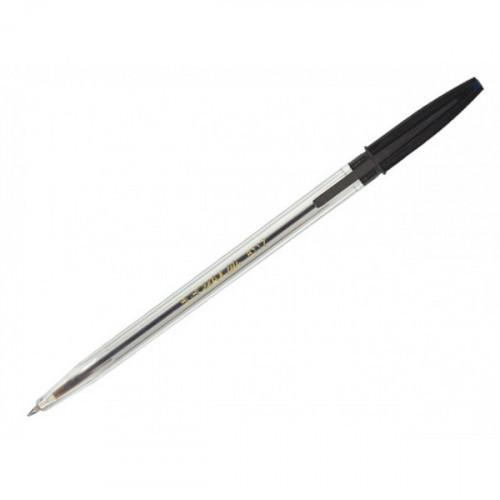 Ручка шариковая Беркли прозрачный корпус аналог Corvina черная