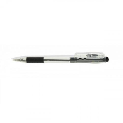 Ручка шариковая Cello JOY автоматическая 0.8 мм черная с резиновой манжеткой