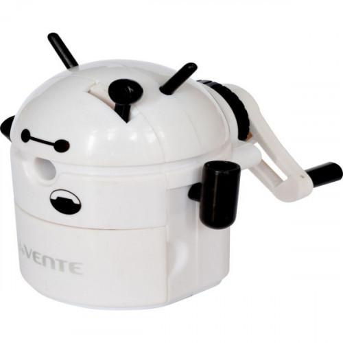 Точилка механическая deVENTE. Робот 8,5x8,8x9 см, 1 отверстие, с контейнером, пластмассовая, в пластиковой коробке, белая