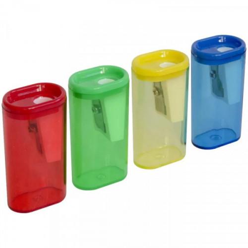 Точилка WORKMATE Office Line пластиковая со средним контейнером, одинарная