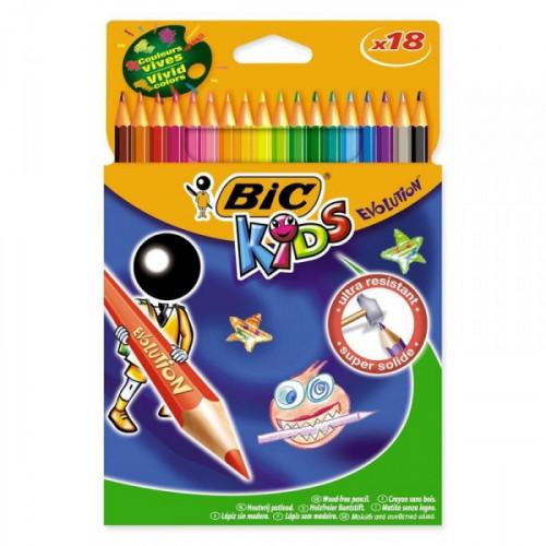 Карандаши цветные BIC Evolution 18 цветов