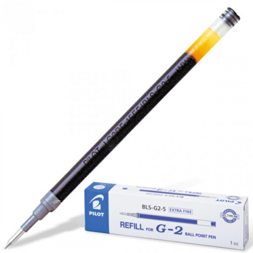 Стержень гелевый Pilot BLS-G2-5 черный 110 мм с толщиной линии 0,3 мм