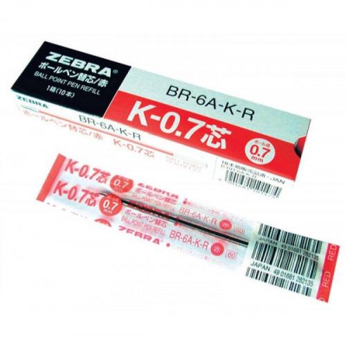 Стержень для шариковых ручек Zebra K (BR-6A-K-BL) 0,7 мм синий