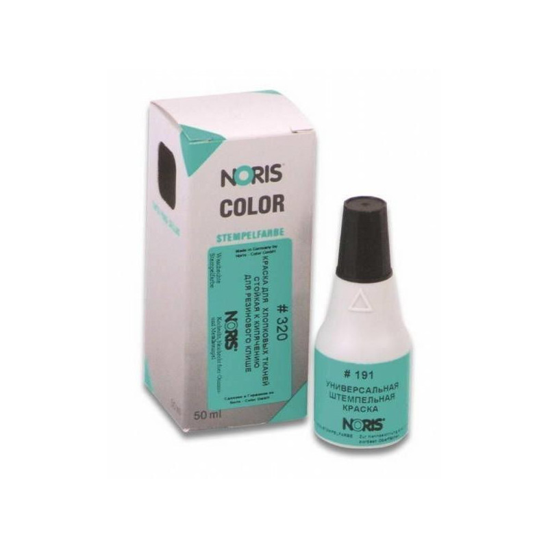 Краска штемпельная универсальная Noris 191А черная для глянцевой бумаги металла пластика 25 мл