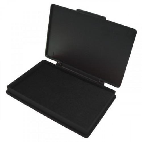 Подушка штемпельная настольная КORES 71575 черная 7х11 см пластмассовая