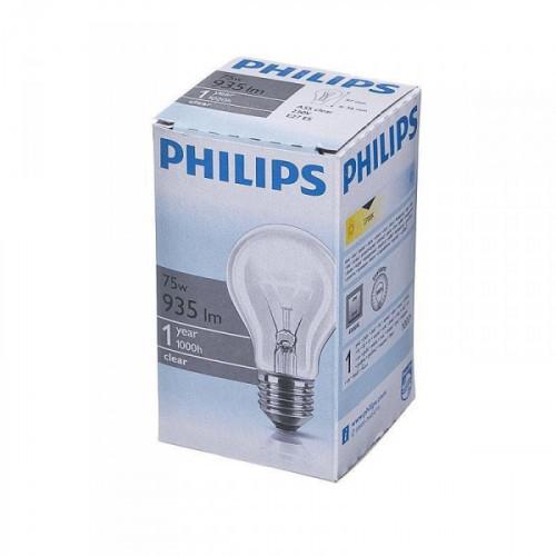 Лампа накаливания Philips 75 Вт цоколь E27 теплый свет