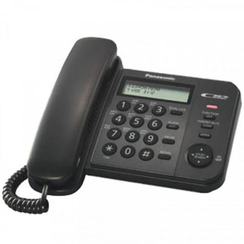 Телефон проводной Panasonic KX-TS2356RUB, ЖК дисплей, АОН, 50 номеров, черный