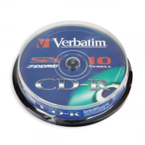 Диск CD-R Verbatim 700MB 52x CB/10 43437 Extra Protect