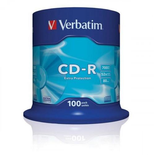 Носители информации CD-R VERBATIM 700MB 52x Cake 100 штук