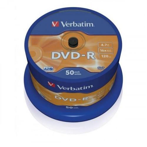 Носители информации Verbatim DVD-R 4,7Gb 16х Cake 50 штук