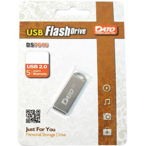 Флеш Диск Dato 16Gb DS7016 DS7016-16G USB2.0 серебристый