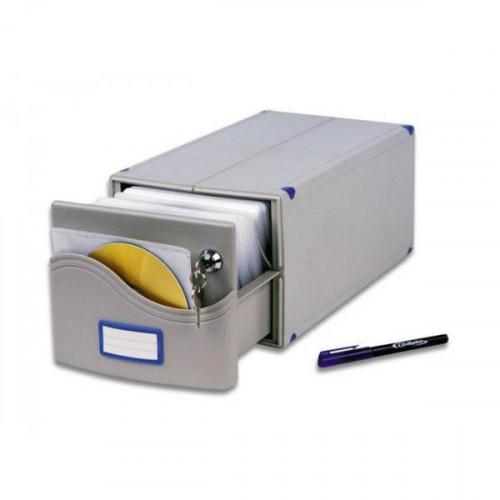 Бокс для CD/DVD дисков РО для 200 CD MB-200SL 185х150х375 мм с замком и маркер