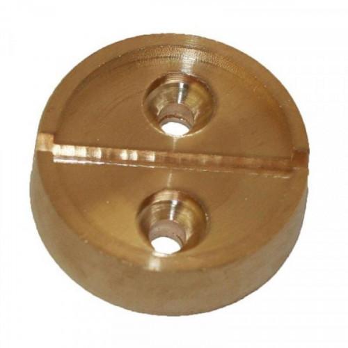 Плашка металлическая на 1 печать диаметр 29 мм 2 штук в упаковке латунь