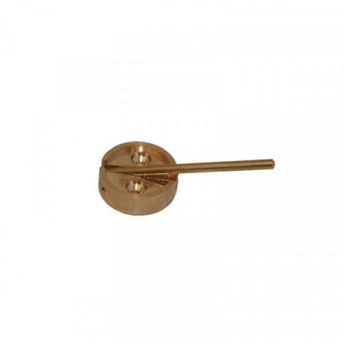 Плашка металлическая с флажком диаметр 29 мм латунь