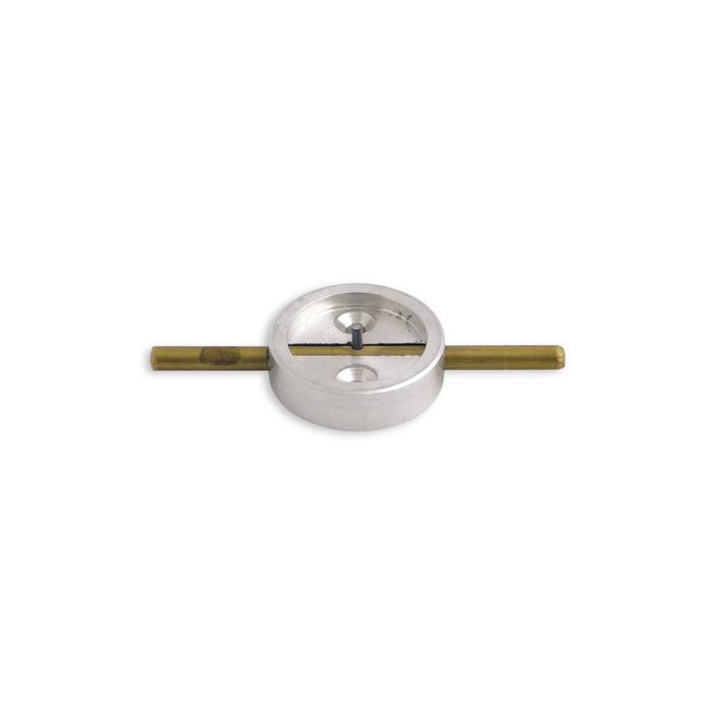 Плашка металлическая со штоком диаметр 29 мм латунь