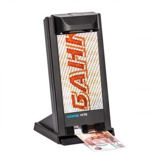 Детектор банкнот DORS 1170 просмотровый универсальный Антистокс, черный