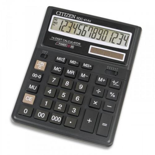 Калькулятор настольный Citizen SDC-414 N 14-разрядный черный