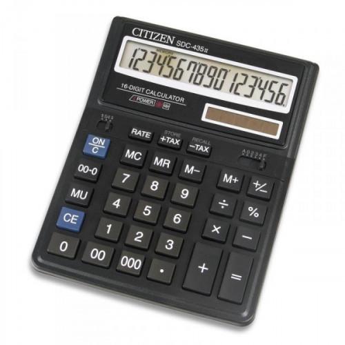 Калькулятор настольный Citizen SDC-435 N 16-разрядный черный
