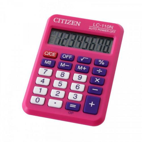 Калькулятор карманный Citizen LC-110NPK 8-разрядный розовый