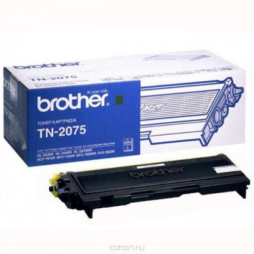 Картридж лазерный Brother TN-2075 черный оригинальный