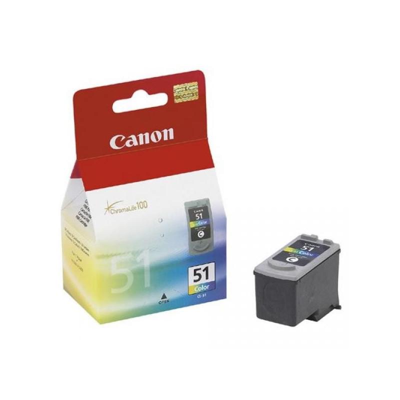 Картридж струйный Canon CL-51 0618B001/0618B025 цветной оригинальный