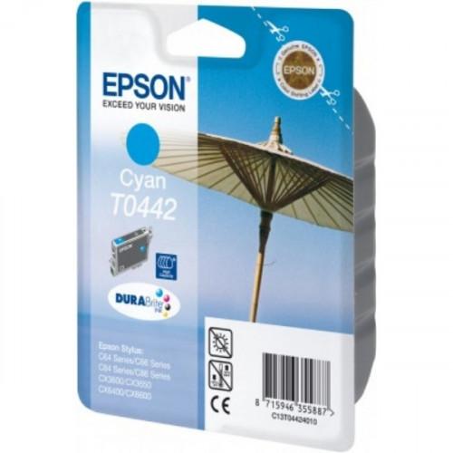 Картридж струйный Epson T0442 C13T044240 голубой оригинальный
