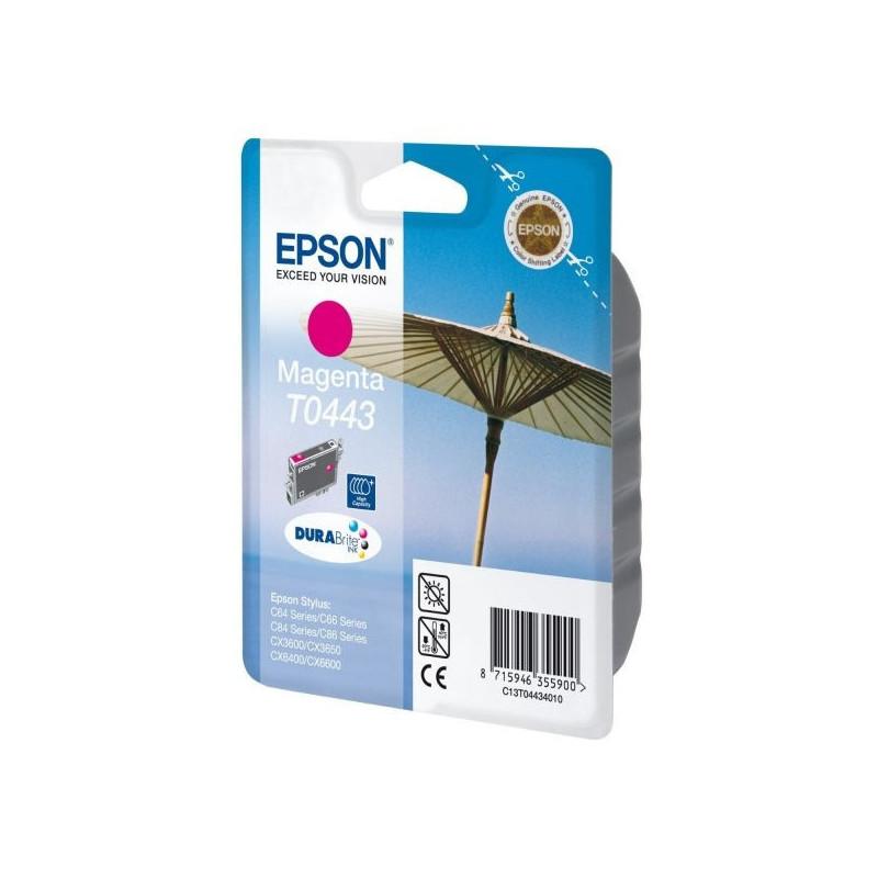 Картридж струйный Epson T0443 C13T044340 пурпурный оригинальный