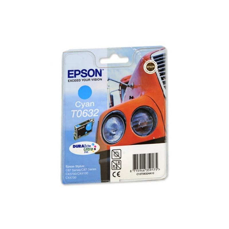 Картридж струйный Epson T0632 C13T06324A голубой оригинальный