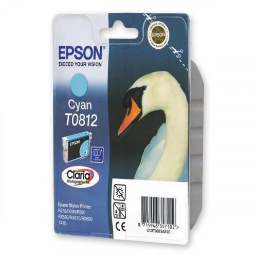 Картридж струйный Epson T0812 C13T08124A10/C13T11124A10 голубой оригинальный