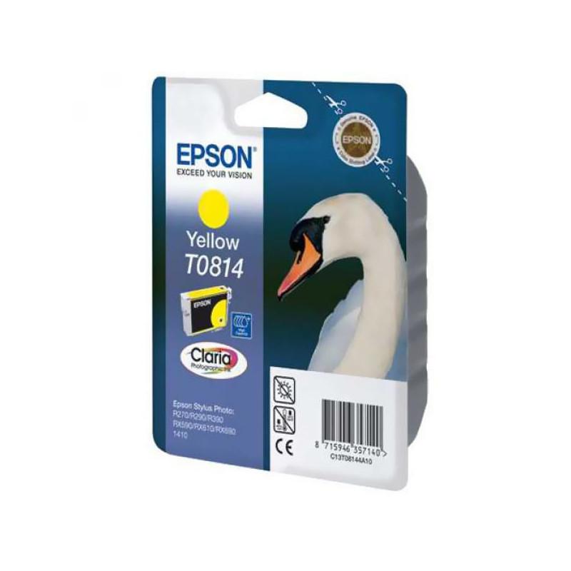 Картридж струйный Epson T0814 C13T08144A10/C13T11144A10 желтый оригинальный