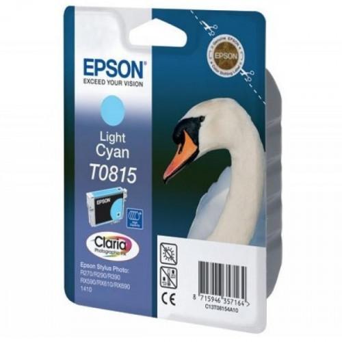Картридж струйный Epson T0815 C13T08154A10/C13T11154A10 светло-голубой оригинальный