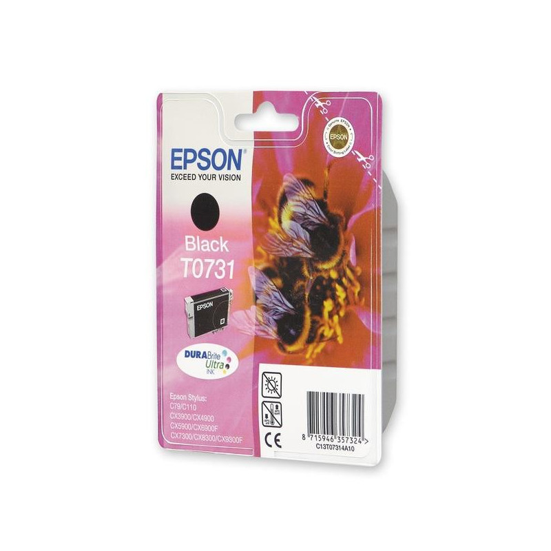Картридж струйный Epson T0731 C13T10514A10 черный оригинальный