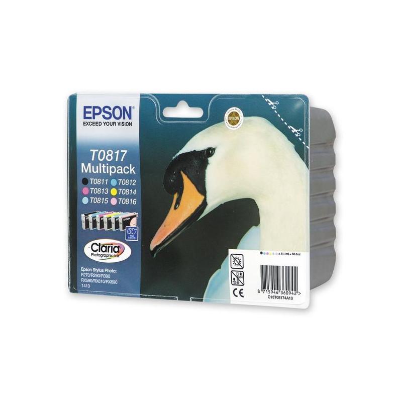 Набор картриджей Epson T0817 C13T11174A10 6 цветов CMYKLcLm оригинальные