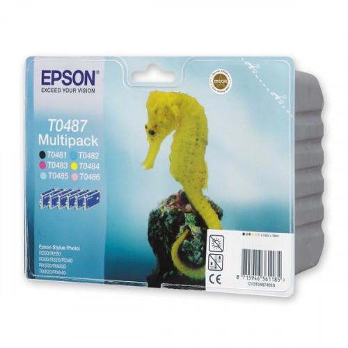 Набор картриджей Epson T0487 EPT04874010 6 цветов оригинальные