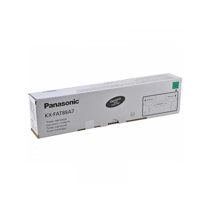 Тонер-картридж Panasonic KX-FAT88A7 черный оригинальный