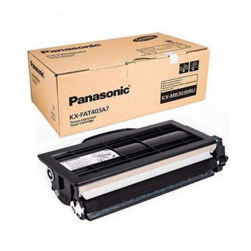 Тонер Картридж Panasonic KX-FAT403A7 черный (8000стр.) для Panasonic KX-MB3030
