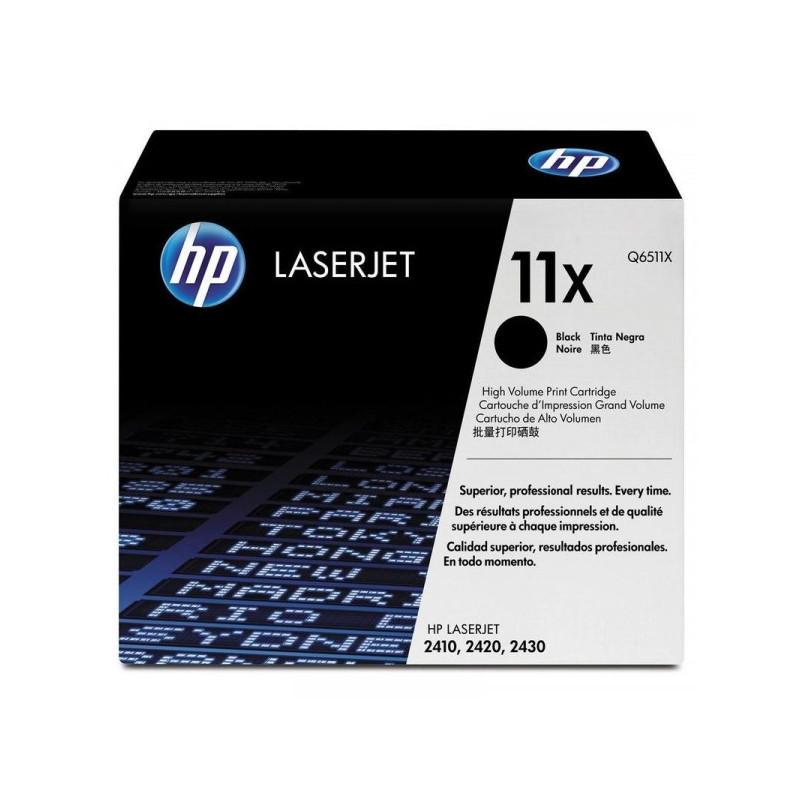 Картридж лазерный HP 11X Q6511X черный оригинальный