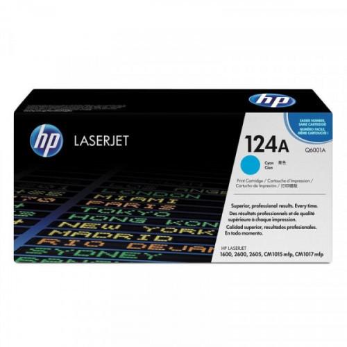 Картридж лазерный HP 124A Q6001A голубой оригинальный